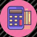 calculator, finance, marketing, point, service icon