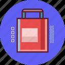 bag, marketing, shopping, square icon