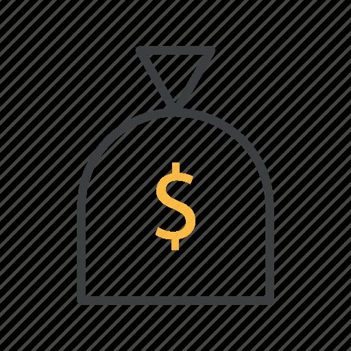 bag, business, dollar, money, money bag icon
