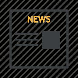 business, money, news, newspaper icon