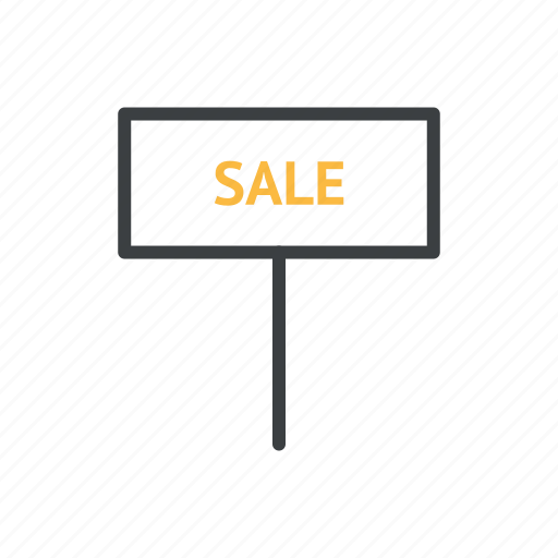 business, money, nameplate, sale icon