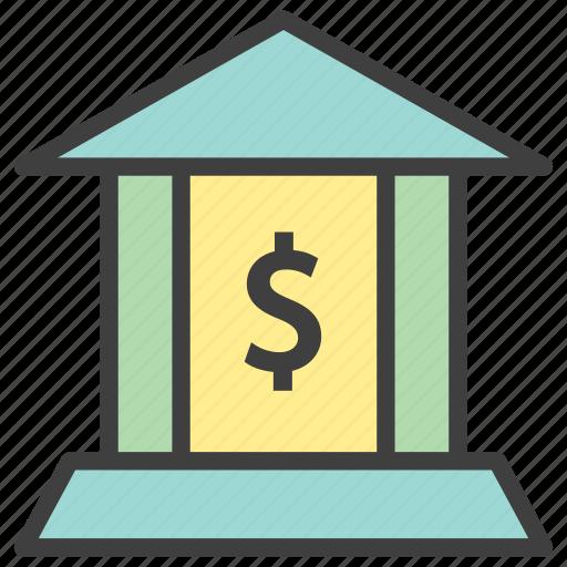 bank, finance, financial institution, loan icon