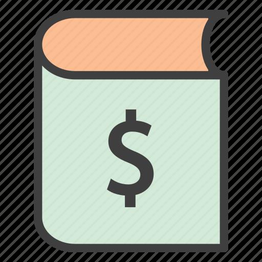 book, book price, finance book icon