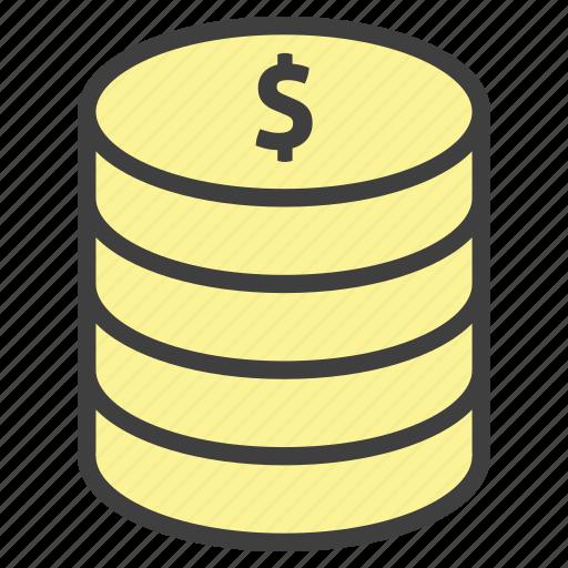 cash, coins, dollar, money, usd icon