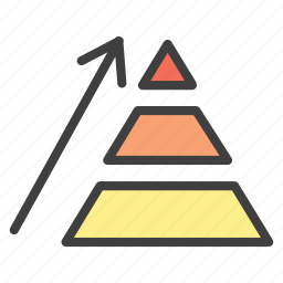 chart, development, growth, pyramide icon