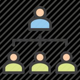 company, hierarchy, human resources, tree icon
