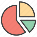 analysis, pie, pie chart, statistics icon