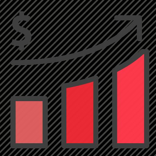 developmet, finance, growth, revenue icon