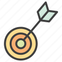 archery, arrow, goal, target icon