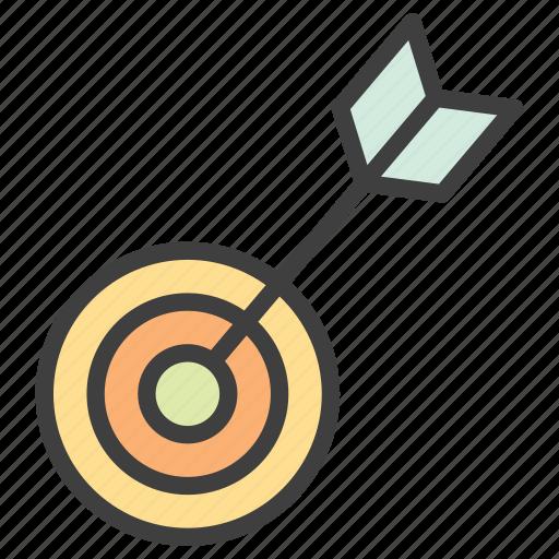archery, arrow, goal, target icon