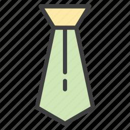businessman, fashion, necktie, tie icon