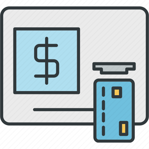 atm, bank, banking, cash, extract, payment icon
