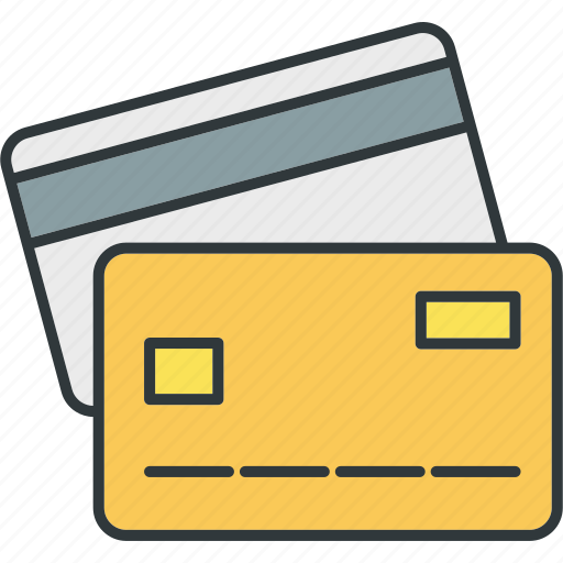 bank, card, cash, credit, money, payment, shopping icon