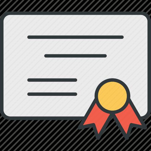 certificate, honor, medal, reward icon