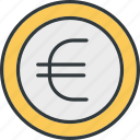 currency, euro, cash, coin, finance, money
