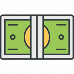 bank, cash, currency, dollar, money, paper icon