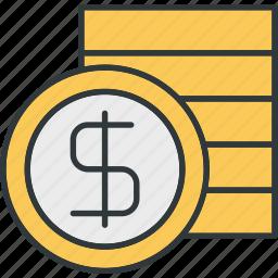 coin, dollars, money, wealth icon