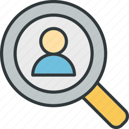 client, find, optimization, search icon