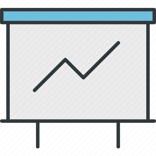 analysis, chart, operations, report, sales, slides icon