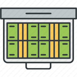 monitor, screen, stocks, trading icon