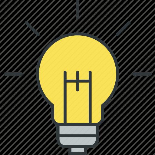 electric, ideas, light, mind, thinking icon