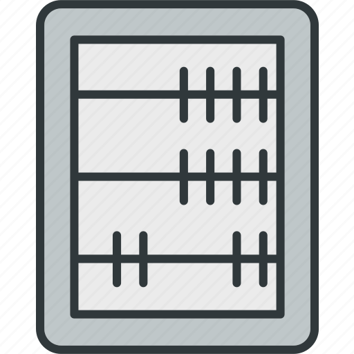 abacus, accounting, calculation, math, maths icon