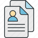exchange, file, files, page, paper, resume icon
