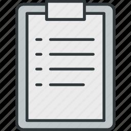 checklist, clipboard, goal, list, task icon
