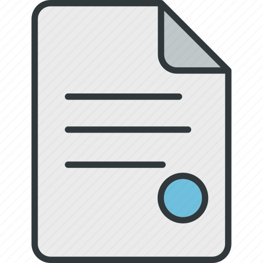 and, documents, files, page, seals, text icon