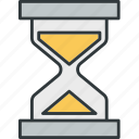 hourglass, time, waiting icon
