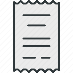 account, flow, invoice, small, ticket icon