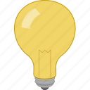 idea, innovation, light, prompt icon