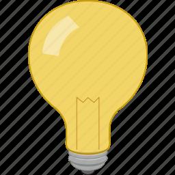 idea, innovation, light, prompt icon