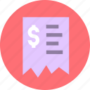 finance, invoice, receipet icon