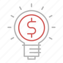 bulb, business, creative, finance, idea icon