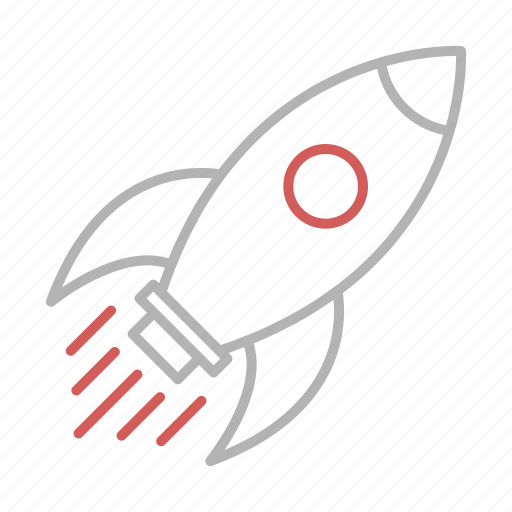 business, launch, rocket, seo icon