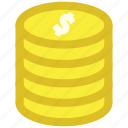cash, coins, dollar, earnings, money icon