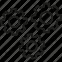 content, gear, managment, seo icon icon
