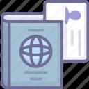 driver, license, passport icon