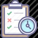 deadline, event, task, work icon