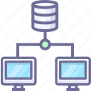 computers, data, sync icon