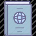 business, identity, passport, travel icon