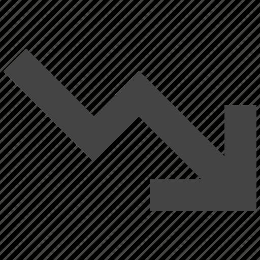 chart, decrease, growth icon