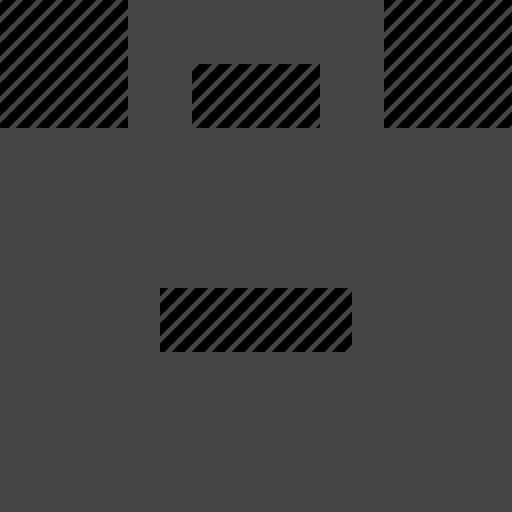 portfolio, profile, remove, suitcase icon