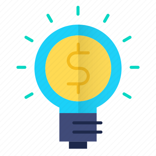 bulb, business, idea, investments icon