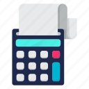 accounting, business, financial, machine, payment icon