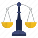 balance, business, justice, law, scale icon