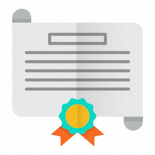 certificate, diploma, document, license icon
