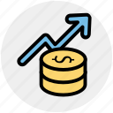 coin, currency, dollar, dollar coins, finance, money icon