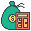 bank, budget, business, finance, management, marketing, money icon